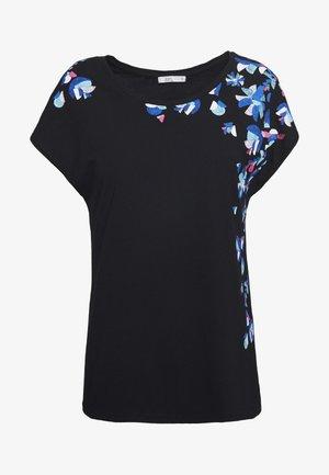 SHOULDER - T-shirts med print - black