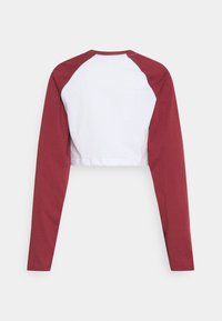 The Ragged Priest - LONG SLEEVE RAGLAN RINGER - Topper langermet - white/burgandy
