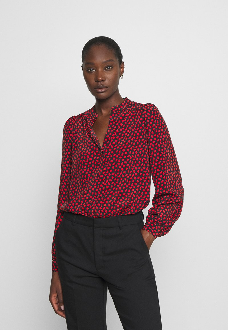 Wallis - LIPSTICK LEAF - Blouse - red