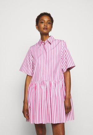 A-LINE BROAD STRIPE SHIRT DRESS - Shirt dress - pink/white