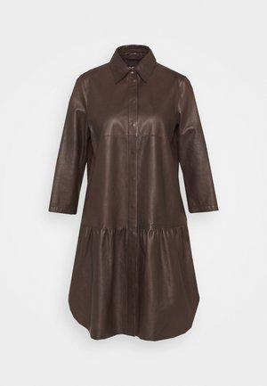 Shirt dress - onyx brown