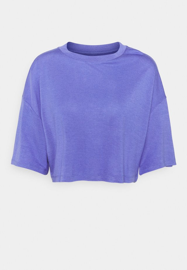 T-SHIRT-SILK BLEND - Basic T-shirt - blue