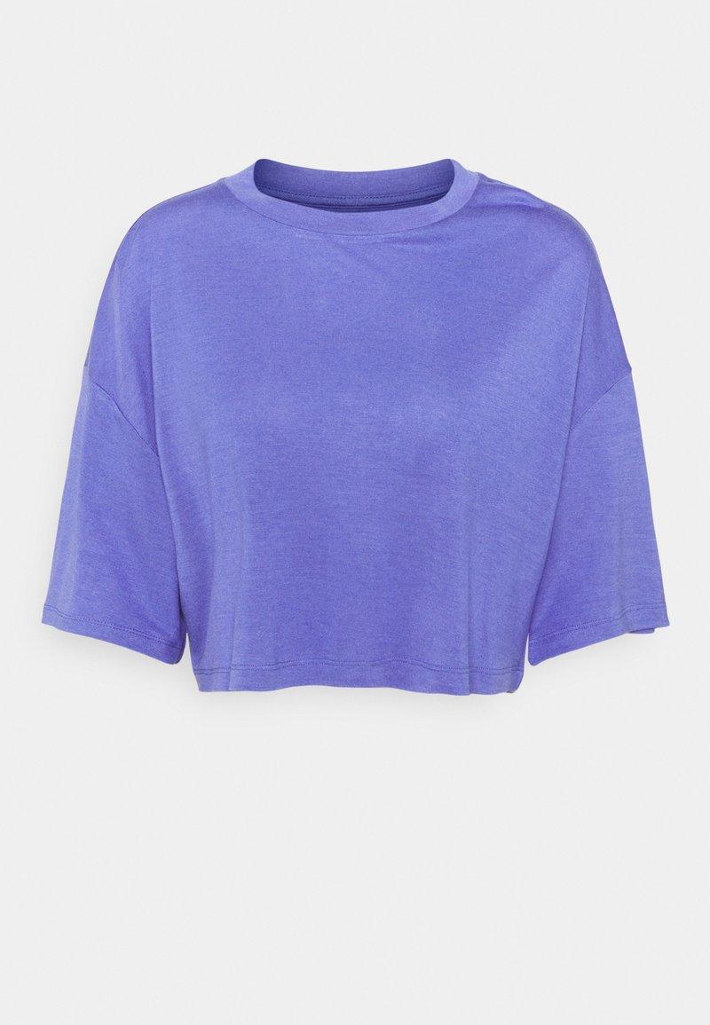 Zign - T-SHIRT-SILK BLEND - Jednoduché triko - blue