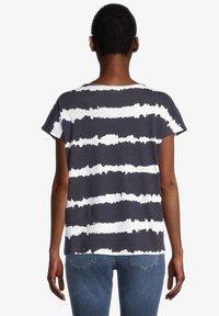 Cartoon - Print T-shirt - dunkelblau/weiß - 2