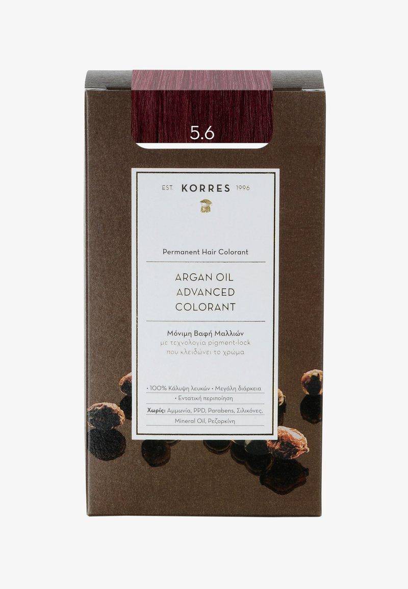 Korres - ARGANÖL HOCHENTWICKELTE COLORATION - Hair colour - 5.6 hellbraun rot