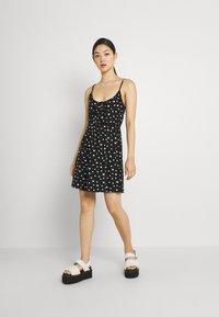Even&Odd - Sukienka z dżerseju - black/white - 1