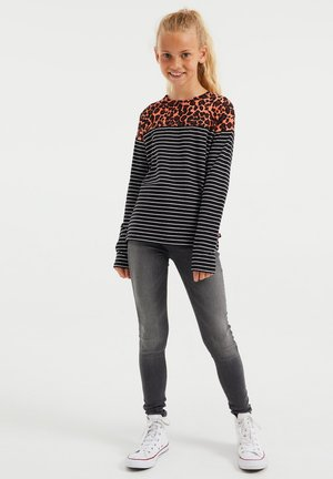 GESTREEPT  - T-shirt con stampa - bright pink