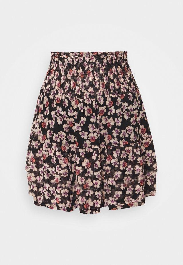 FLEURIR SKIRT - Mini skirt - black