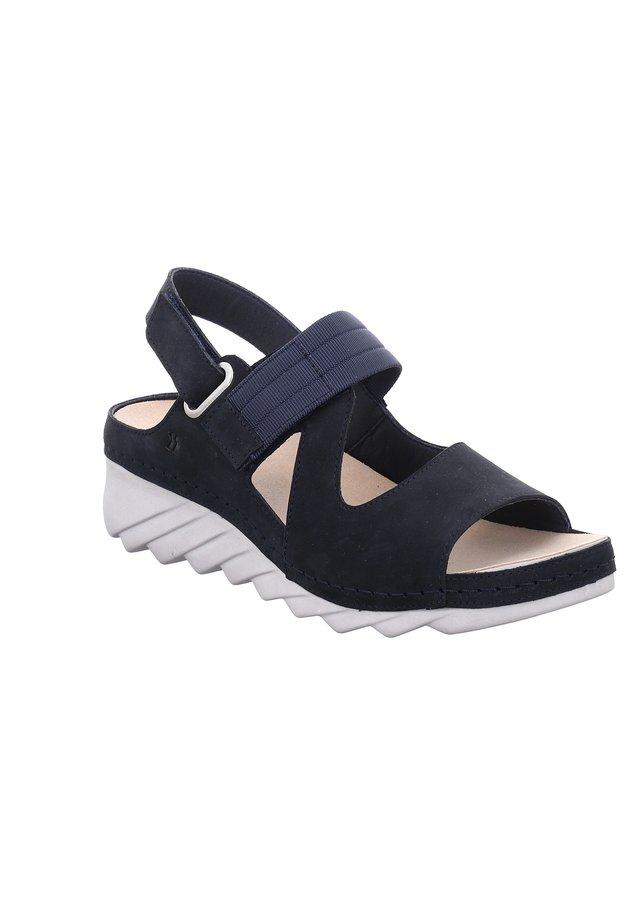 SALEM - Wedge sandals - ocean