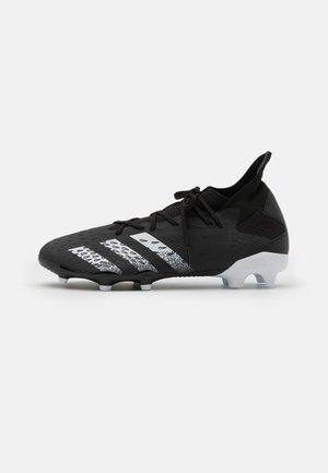 PREDATOR FREAK .3 FG - Fußballschuh Nocken - core black/footwear white