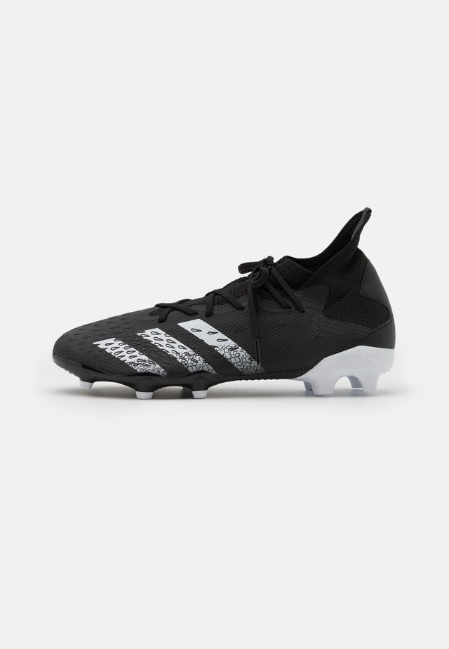 PREDATOR FREAK .3 FG - Chaussures de foot à crampons - core black/footwear white
