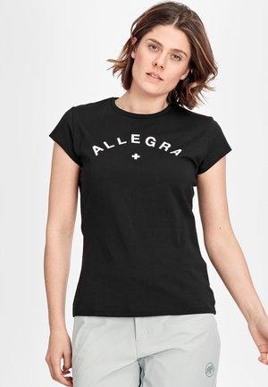 PEAKS - T-shirt con stampa - black prt allegra