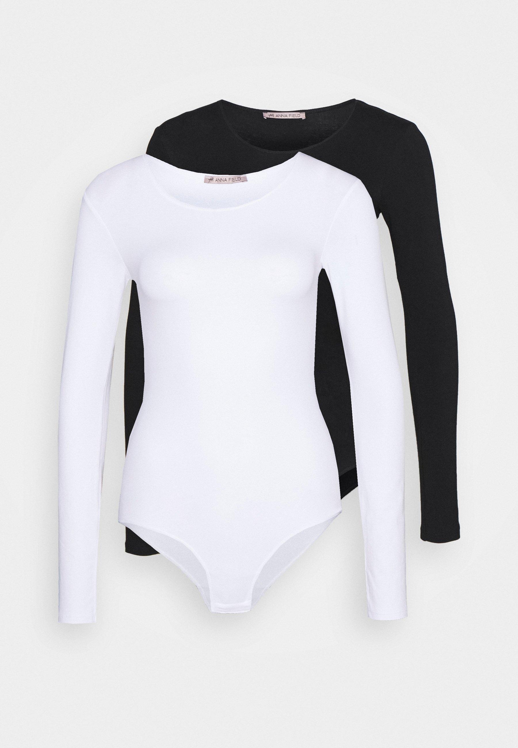 Anna Field 2 PACK - Body - white/black