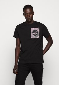Just Cavalli - SPARKLY SKULL - T-shirt con stampa - black - 0