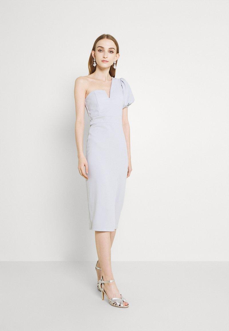 WAL G. - LIMMY PUFF SLEEVE MIDI DRESS - Cocktail dress / Party dress - pearl grey