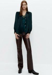 Uterqüe - Button-down blouse - green - 1