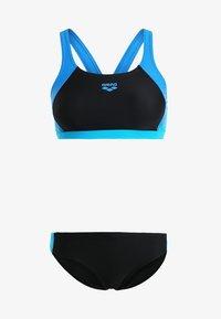 TWO PIECE SET - Bikini - black/pix blue/turquoise