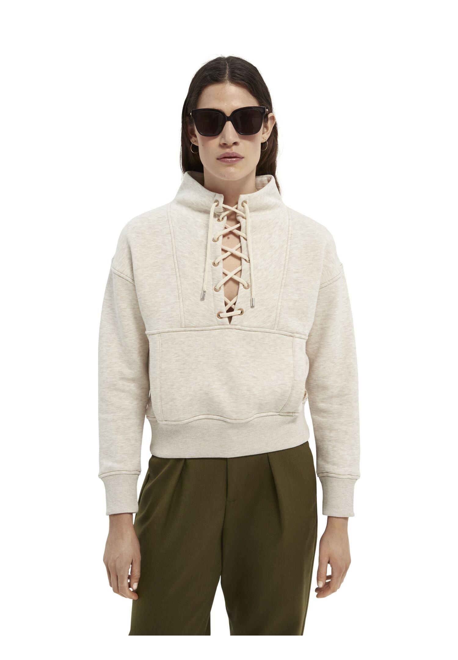 Women BOXY HIGH NECK WITH UTILITY DETAILS - Sweatshirt