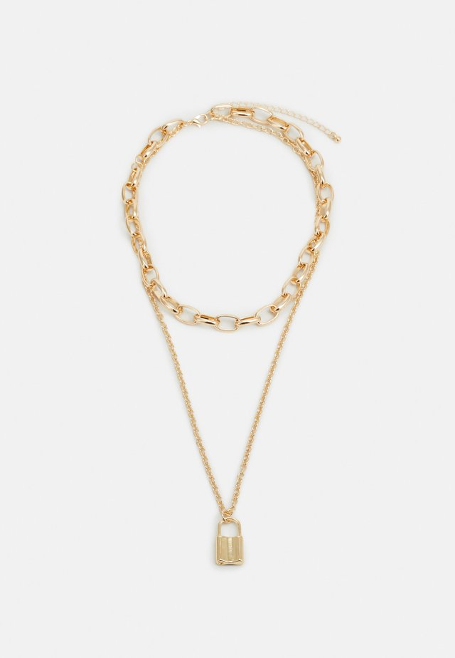 LOCK NECKLACE - Halsband - gold-coloured