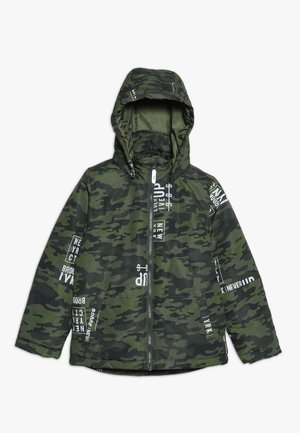 NKMMAX JACKET CAMO TEXT - Vinterjakker - winter moss