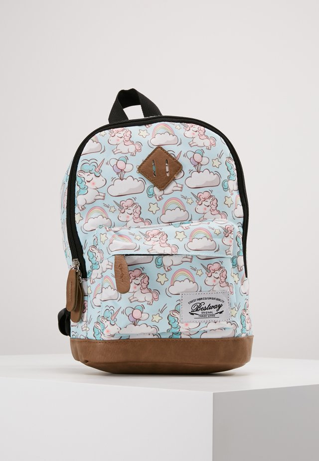 BESTWAY KINDERGARTENBACKPACK - Sac à dos - light blue/white
