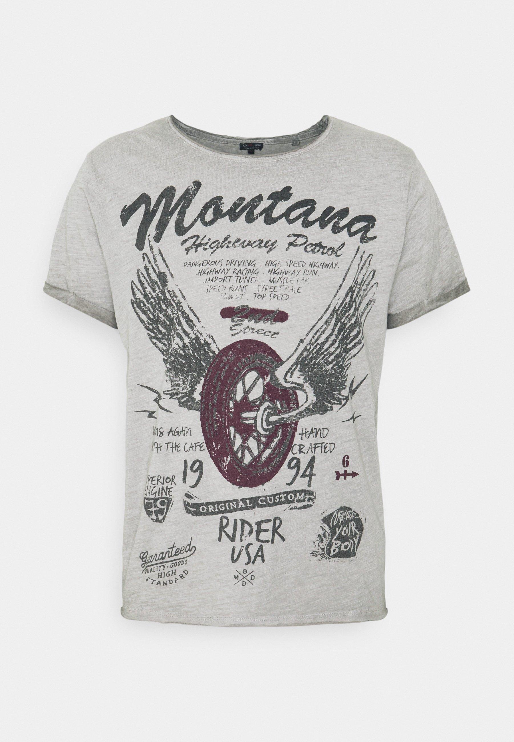 Men TIRES ROUND - Print T-shirt