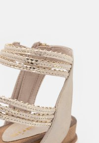 Tamaris - Platform sandals - light gold - 6