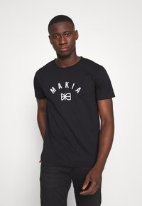 Makia - BRAND - Printtipaita - black - 0