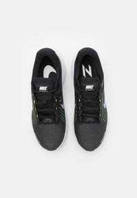 Nike Performance - AIR ZOOM STRUCTURE 23 - Stabilty running shoes - black/metallic silver/volt/anthracite/white - 3
