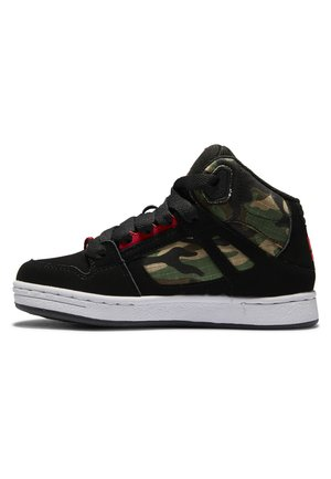 High-top trainers - black/camo