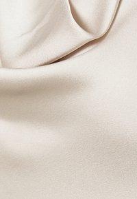 Abercrombie & Fitch - COWLNECK T STRAP BACK BODYSUIT - Top - cream - 5