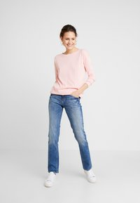 TOM TAILOR - ALEXA - Straight leg jeans - mid stone wash denim blue - 1
