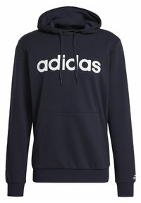 adidas Performance - ESSENTIALS FRENCH TERRY LINEAR LOGO HOODIE - Hoodie - blue - 8