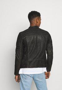 Tigha - CADAN - Leather jacket - black stone wash - 2