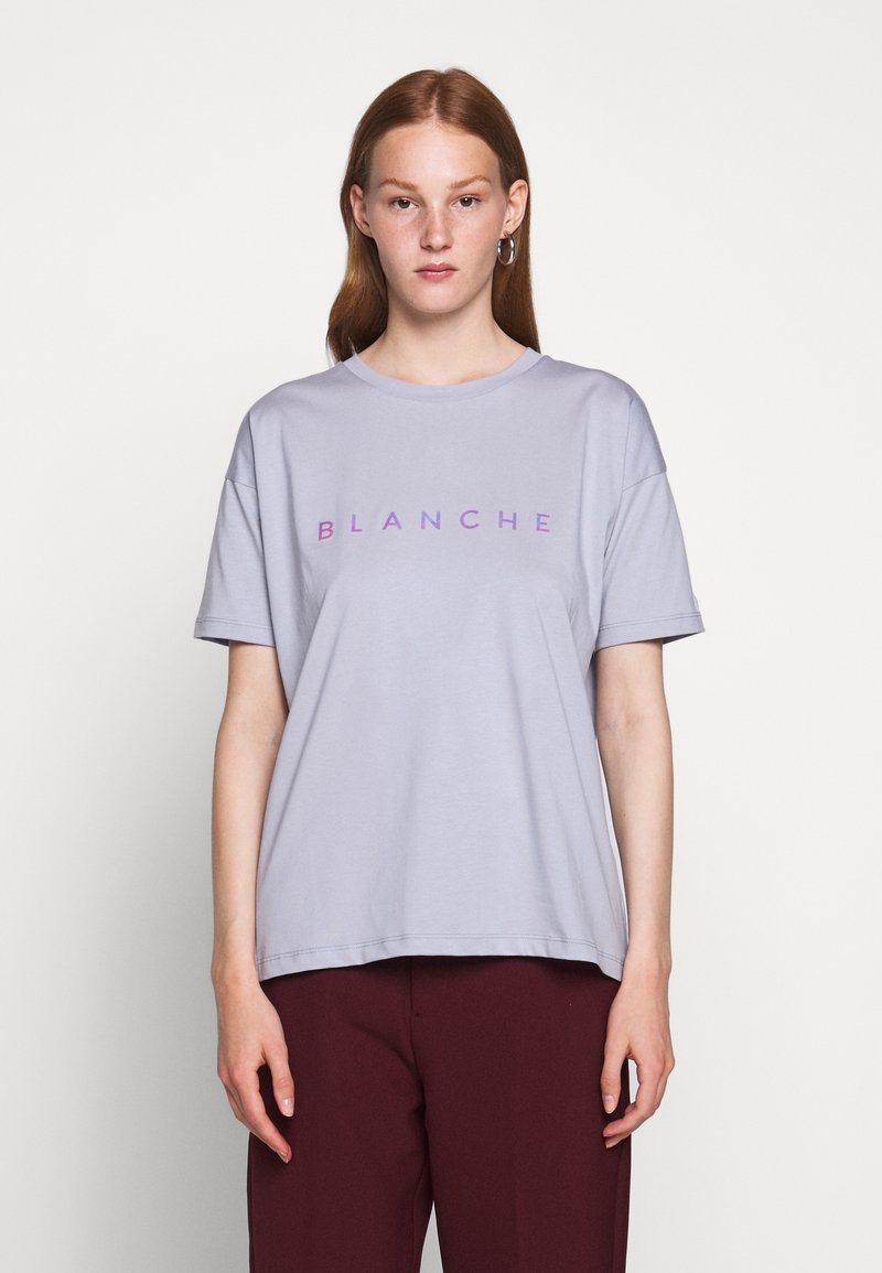 BLANCHE - MAIN HOLOGRAM - T-shirt imprimé - dove blue