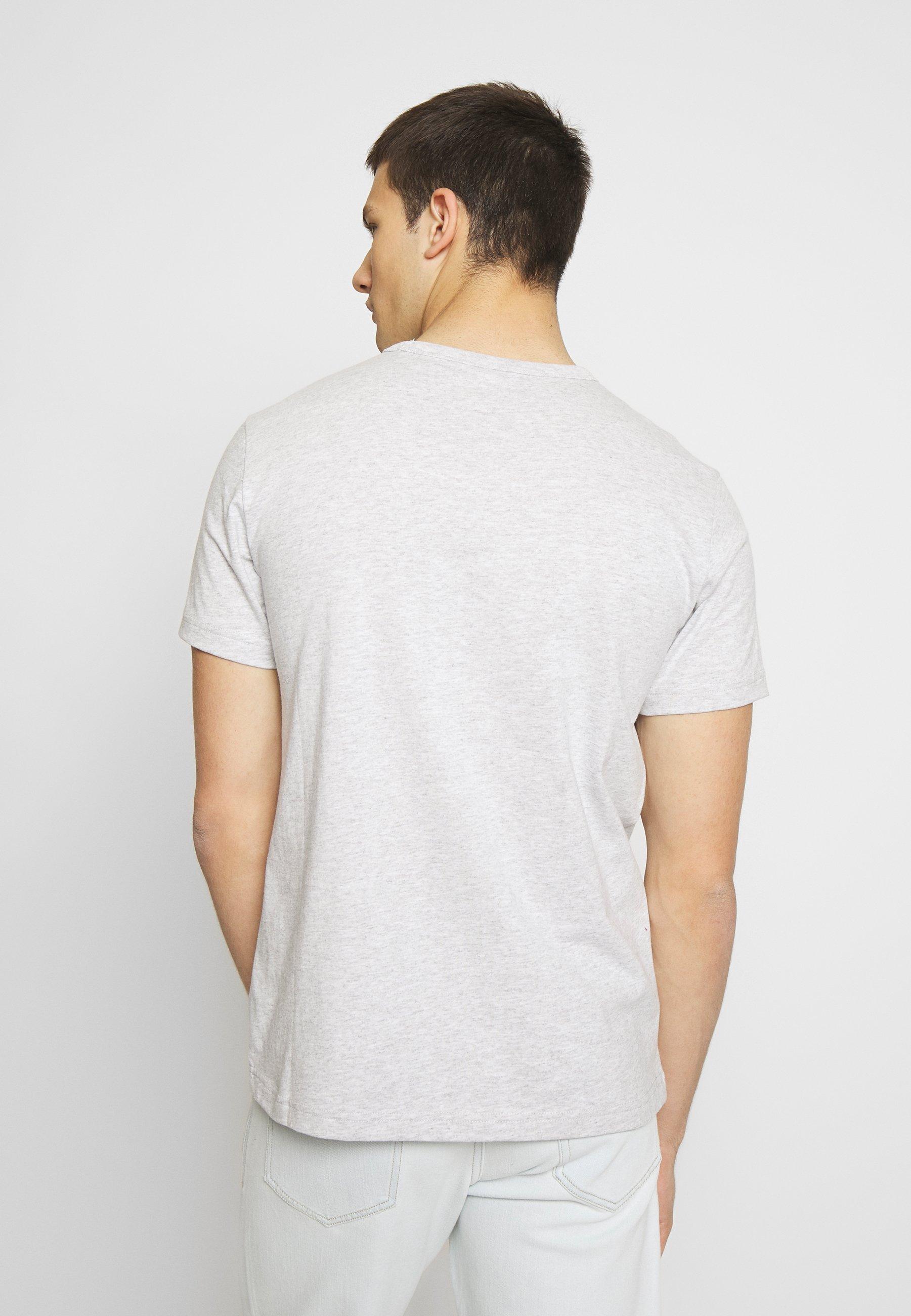 Champion Reverse Weave Light Grey Arm Logo T-Shirt