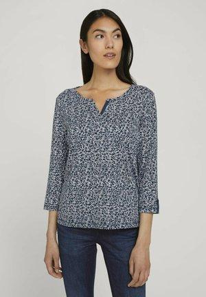 T-shirt à manches longues - blue offwhite minimal