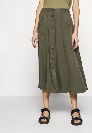 KAROLE - A-line skirt - green leaf