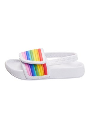 RAINBOW POOL SLIDERS (YOUNGER) - Badslippers - white