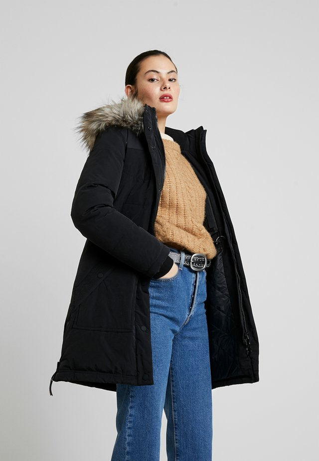 Płaszcz zimowy - peached black