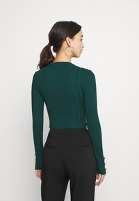 Missguided - BUTTON CUFF CREW NECK BODY - Pullover - forest green - 2