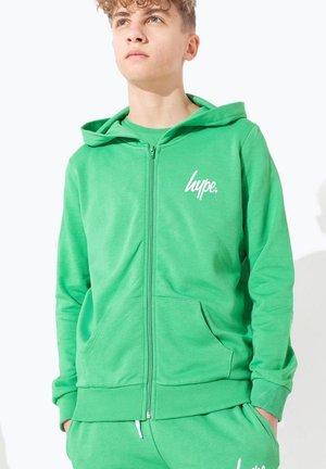 Hoodie met rits - green