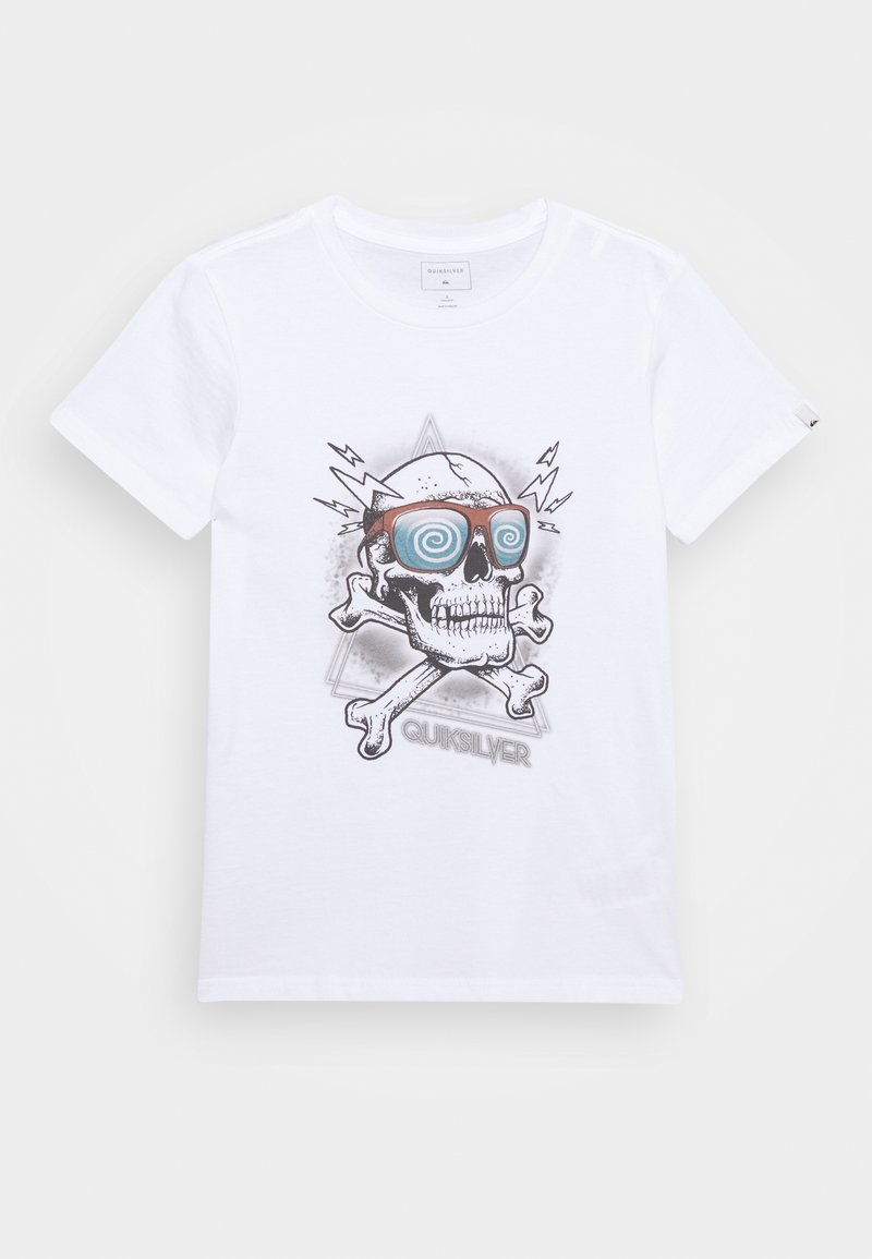Quiksilver - HELL REVIVAL - Print T-shirt - white