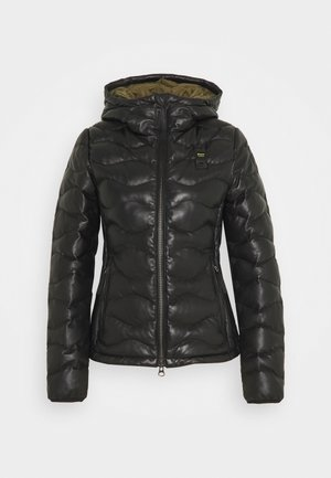 CAPO SPALLA IMBOTTITO - Leather jacket - black