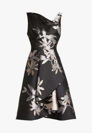 SHORT DRESS - Cocktailkleid/festliches Kleid - black/champagne