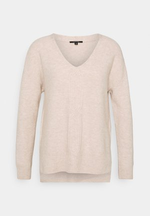 LOOSE FIT - Jumper - ivory melange