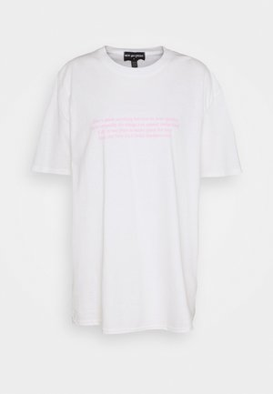 MANIFESTO TEE - T-shirts med print - white