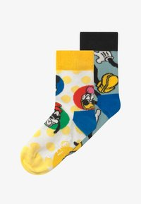 Happy Socks - DISNEY MICKEY MOUSE & FRIENDS SUNNY CREW 2 PACK - Calze - blue/yellow - 2