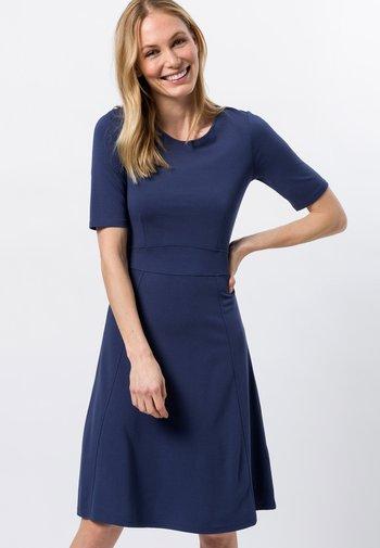 Day dress - velvet blue