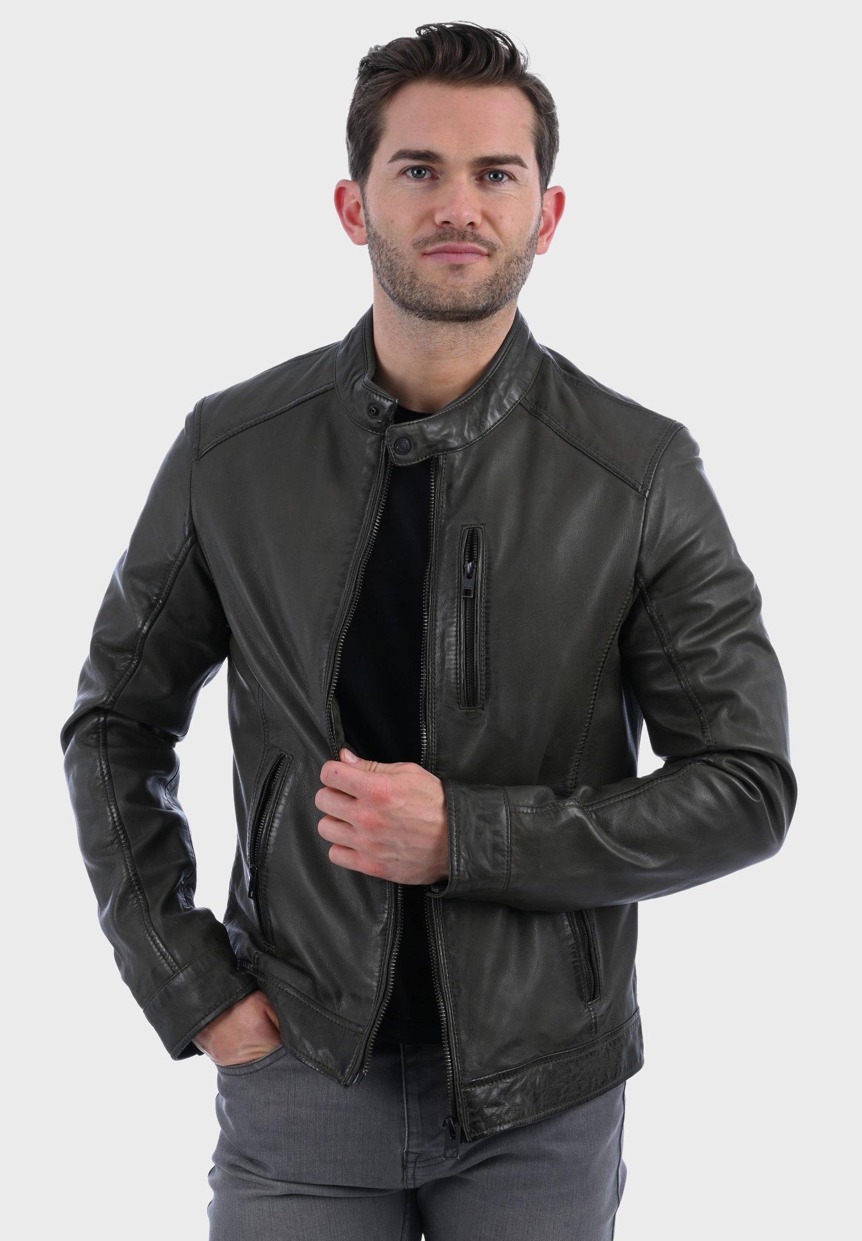 Homme AGENT - Veste en cuir